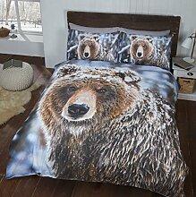 Rapport Big Bear Bettwäsche-Set, mehrfarbig, Doppel