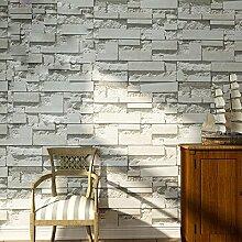 Retro Brick Tapete Wohnzimmer Schlafzimmer Gäste Brick Tapete Grau Gelb,Lightgray