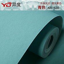 Reyqing Einfache Und Schlichte Tuch Schlafzimmer Nur Wohnzimmer Tv-Kulisse Tapete, Blau, Wallpaper