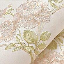 Reyqing Europäische 3D Geschnitzten Tiefprägung Vliestapeten Hochzeit Zimmer Schlafzimmer Wohnzimmer Tv Hintergrund Tapete, Nur Beige, Tapeten