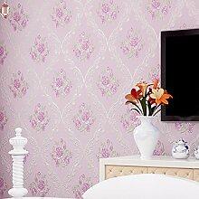 Reyqing Feine Druck Vliesstoff, Europäischen Stil Tapete, Klare Garten Relief, Dreidimensionale Wohnzimmer Tapeten, Wathet, Nur Wallpaper