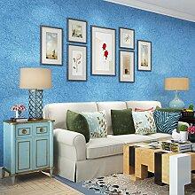 Reyqing Moderne, Einfache Einfarbig Arbeitszimmer Tapete, Ocean Blue, Tapeten Nur
