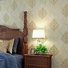Reyqing Non Woven Tapeten, 3D Relief, Schlafzimmer, Wohnzimmer, Tv, Tapete Retro Grün, Wallpaper Nur