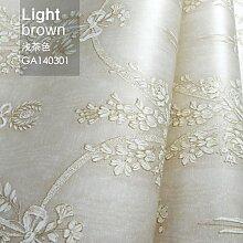 Reyqing Non Woven Tapeten, Europäischen Stil Tapete, Wohnzimmer Tv Hintergrund, Tapeten Schlafzimmer, Ga 140301 Hellbraun, Wallpaper Nur