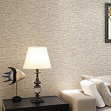 Reyqing Reines Leinen Einfach Moderner, Minimalistischer Wohnzimmer Schlafzimmer Tapete Mit Vertikalen Streifen Bedeckt Gewebt, Beige [37203], Tapeten Nur