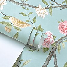 Romantische Garten Blume Tapete/moderne chinesische Tapete/Blume Tapete/Schlafzimmer Wohnzimmer Tapete/[TV Hintergrundbild]-A