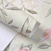 Romantische Garten Blume Tapete/moderne chinesische Tapete/Blume Tapete/Schlafzimmer Wohnzimmer Tapete/[TV Hintergrundbild]-B