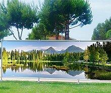 Sichtschutz für Garten, Terrasse, Balkon, Motiv See, 100%, 180x70cm