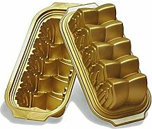 Silikomart Silikon-Backform für Weihnachtsbaum Pflaumenkuchen-Form Kathedralen-Thema gold