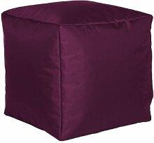 Sitzwürfel Sitzhocker Hocker Cube NYLON aubergine lila 40 x 40 x 40 cm