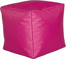 Sitzwürfel Sitzhocker Hocker Cube NYLON fuchsia pink 40 x 40 x 40 cm