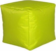 Sitzwürfel Sitzhocker Hocker Cube NYLON limone 40 x 40 x 40 cm