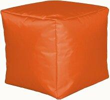 Sitzwürfel Sitzhocker Hocker Cube NYLON orange 40 x 40 x 40 cm