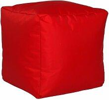 Sitzwürfel Sitzhocker Hocker Cube NYLON rot 40 x 40 x 40 cm