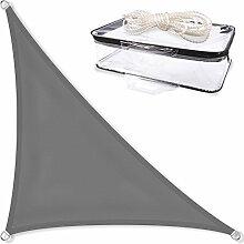 Sonnensegel Sonnenschutz Garten   UV-Schutz PES Polyester wasser-abweisend imprägniert   CelinaSun 1000115   Dreieck rechtwinklig 4,2 x 4,2 x 6 m anthrazit