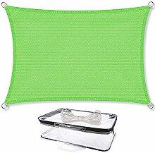 Sonnensegel Sonnenschutz Garten   UV-Schutz wetterbeständig HDPE atmungsaktiv   CelinaSun 1000632   Rechteck 4 x 6 m grün