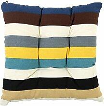 sourcingmap® Quadrat Stuhl Kissen Sitz Garten Gartenmöbel mit Krawatten (Streifen 3)