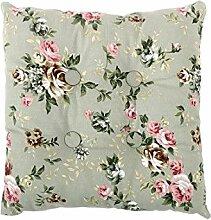 sourcingmap® Quadrat Stuhl Kissen Sitz Garten Gartenmöbel mit Krawatten (Blume 2 mit Knopf)