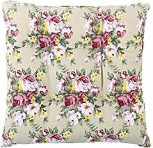 sourcingmap® Quadrat Stuhl Kissen Sitz Garten Gartenmöbel mit Krawatten (Blumen 1)