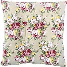 sourcingmap® Quadrat Stuhl Kissen Sitz Garten Gartenmöbel mit Krawatten (Blume 1 mit Knopf)