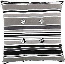 sourcingmap® Quadrat Stuhl Kissen Sitz Garten Gartenmöbel mit Krawatten (Streifen 5 mit Knopf)
