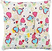 sourcingmap® Quadratisch Stuhl Kissen Sitz Garten Gartenmöbel mit Krawatten (Herz)