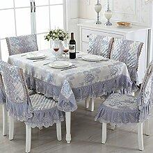 Spitzen Tischdecke Tischdecke,Tisch Garten Tischdecke,Polstermöbel Kit,Bedeckt Mit Servietten Tischdecke Tischdecken-A 150*200cm(59x79inch)