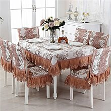 Spitzen Tischdecke Tischdecke,Tisch Garten Tischdecke,Polstermöbel Kit,Bedeckt Mit Servietten Tischdecke Tischdecken-C 150*200cm(59x79inch)