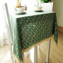 Tang Moine Bodhi Garten Ethno-Stil Kleine Frische Tischdecken Tischsets Tischdecken Vorhänge Hotel,130x180cm