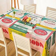 Tang Moine Garten Mode Druck Baumwolle Tischdecken Tischdecken Tischdecken,140*180cm