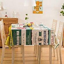 Tang Moine Garten Mode Druck Baumwolle Tischdecken Tischdecken Tischdecken,140*140cm