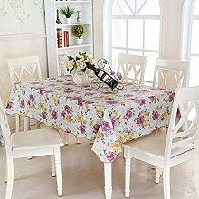 Tang Moine Garten Quadrat Wasser Öl Hohe Temperatur Wohnzimmer Couchtisch Tischdecken,137*137cm