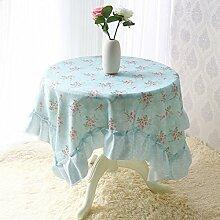 Tang Moine Garten Spitzegewebe Rund Tischtuch Kleine Tischdecke Tischtuch Handtuch Abdeckung ,D-150*150cm