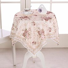 Tang Moine Jacquard Garten Quadratische Tischdecke Tischdecken Decken Tischdecken,110*110cm
