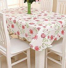Tang Moine Kunststoff Wasserdicht Anti-Öl Tischdecken Garten Tischcouchtisch Tuch Tischtuch,J