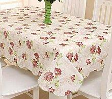 Tang Moine Kunststoff Wasserdicht Anti-Öl Tischdecken Garten Tischcouchtisch Tuch Tischtuch,C
