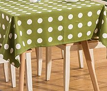 Tang Moine Mode Garten Punkte Baumwolle Tischdecken Tischdecken,140*180cm