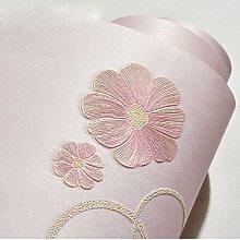 Tapete Oberfläche Feinschliff Tapete Kinderzimmer Schlafzimmer Wohnzimmer Tapete Nonwovens,Pink