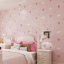 Tapete Romantische Ballonkindraum Tapete Vlies - Nette Warme Tapete,Pink