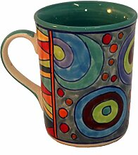 Tasse Kaffeetasse Teetasse Geschirr Keramik Bemalt Bunt - Gall&Zick