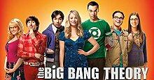 The Big Bang Theory Season 7 46x24 inch / 114x60 cm Plastic Poster Kunststoff Plakat Wasserdicht | Anti-Fade | Kann auf den Außenbereich/Garten/Badezimmer 7TJ-1857/583A