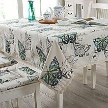 TRE continental Tischdecke Stoff/ Garten Tischdecke/Spitzen Sie Tischdecke/ Tischtuch-E 140x220cm(55x87inch)