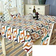 TRE Garten frische Baumwolle Tabelle Tuchgewebe/ Kaffee Tisch rund Tischdecken Karte Tisch/Abdeckung Tuch-B 110x160cm(43x63inch)