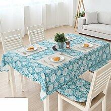 TRE Garten frische Baumwolle und Leinen Tischdecke/ Coffee Table Servietten/Tisch Schrank Abdeckung/ decken Handtücher/Tischdecke decke-B 140x220cm(55x87inch)