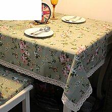 TRE Leinen-Tischdecken/ Handtuch/ Tischtuch/Rechteckigen Garten Baumwolle-A 140x180cm(55x71inch)