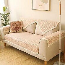 Vier Jahreszeiten Garten frische Baumwolle Sofakissen/Mode Kissengewebe/ Slip Sofa Handtuch-A 70x70cm(28x28inch)