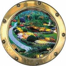 Wandtattoo Bullauge Irre L Auge Deko Garten H354, 50x50cm