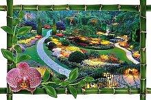 Wandtattoo Irre L Auge Deko Garten OEM 959, 100x66cm