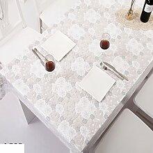 Wasserdicht Spitze Vinyl Tischdecke/Vertikale Seite PVC Garten-tischdecke/Couchtisch Schutz Öl Tuch-H 132x100cm(52x39inch)