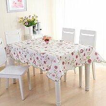 wasserdichte Tapete/Tischdecken/Round Table/Anti-Heißöl und Einweg-Tischdecken/PVCPlastiktisch Mat-J 137x183cm(54x72inch)